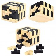 Tradico Russian Box Kong Ming Luban Lock 55pec Removable Bamboo Adult Educational Toys