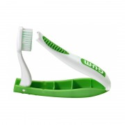 Periuta de dinti GUM Travel Brush Soft Antibacterial coated Green