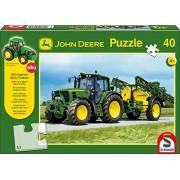 Schmidt John Deere Tracter with Sprayer Jigsaw (40 Pieces) + Siku Model Tractor
