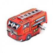 Generic Vintage Fire Chief Firefighter Car Truck Clockwork Wind Up Tin Toys