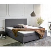 DELIFE Boxspring-bed Cloud 180x200 cm grijs topper en matras