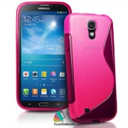 Husa Samsung i9200 Galaxy Mega 6.3 Silicon Gel Tpu S-Line Roz