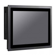 HUNSN 12 Inch IP65 Industrial Touch Panel PC,All in One Computer,10 Points Capacitive TS,Windows 7/10,Linux,Intel 3855U,(Black), WD13,[3RS232/VGA/LAN/4USB2.0/2USB3.0/Audio],(64G SSD/500G HDD)