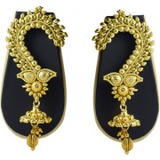 Pourni exclusive Designer Gold finish Ear Cuffs Earrings - DLEC07