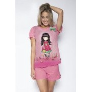 Pijama dama cu tricou Gorjuss - Every Summer has a Story scurta bumbac S