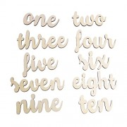 Generic Wooden Table Numbers one-ten Wood Number Wedding Birthday Party Ornaments