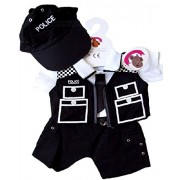Build Your Bears Wardrobe 15-inch Clothes Fit Bear Police Officer Costume