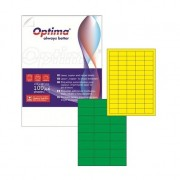 Etichete color autoadezive Optima verde 24-a4-70-x-37-mm