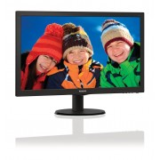 "Philips V-line 243V5LHAB - Monitor LED - 23.6"" - 1920 x 1080 Full HD (1080p) - 250 cd/m² - 1000:1 - 1 ms - HDMI, DVI-D, VGA - a"
