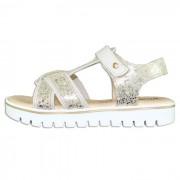 Sandale piele naturala copii, fete - alb, auriu, Melania - ME6006F9E-B