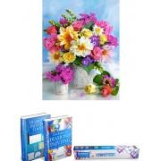 Crafterman™ Diamond Painting Pakket Volwassenen - Prachtige Bloemen mix - 30x40cm - volledige bedekking - vierkante steentjes - 33 verschillende kleuren - hobby pakket - Met tijdelijk 2 E-Books