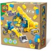 Ses Eco - Set Creativ Cu Pufuleti Modelatori - Vehicule Pentru Constructii (400 Buc)