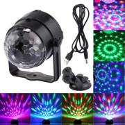 3W RGB USB Sound Control Rotating Magic Ball LED Stage Light DJ Light DC 5V