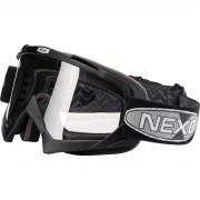 Nexo Schutzbrille, Helmbrille Motorradhelm Nexo Profi Motorradbrille II mattschwarz matt schwarz