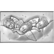 Strieborný obraz spiacich anjelikov V05.8999.280