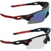 Zyaden Wrap-around Sunglasses(Multicolor, Clear)