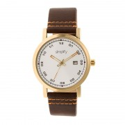Simplify The 5300 Strap Watch - Gold/Brown SIM5304