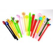 Oytra Pens Combo | Cute Stylish Designs | 0.38 mm Gel Pen | Ink : Blue Color (Set of 20 Pens)