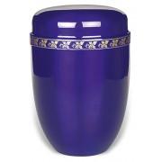 Design Urn met messing sierrand bladmotief (4 liter)