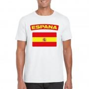 Shoppartners Spaanse vlag shirt wit heren