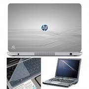 FineArts Laptop Skin 15.6 Inch With Key Guard Screen Protector - HP on Grey
