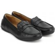 Clarks Un Terra Black Leather Sneakers For Women(Black)