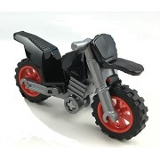 LEGO Captain America Motorcycle Bike Only Red & Black
