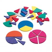 Didax Educational Resources Fraction Circles-Easy shapes