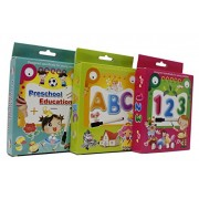 Fusine™ New Creative Educational Aids Preschool Concepts, Number Concepts, Alphabets Concepts( Flash Cards with Pen )( Write & Learn ) (All 3 of Them)