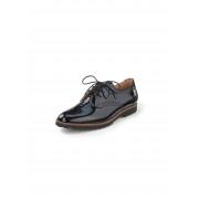 Gabor Dames Veterschoenen van kalfslakleer met perforatie Van Gabor zwart