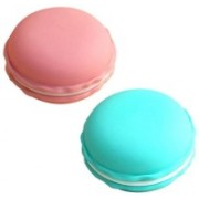Cellphonez Mini Macaron Carrying Case Pouch for Jewelry Box Organizer, SD Card ( Set Of 2)(Multicolor) Pouch(Multicolor)