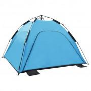 vidaXL Pop up палатка за плаж, 220x220x160 см, синя