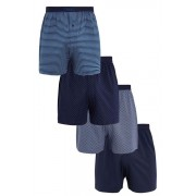 Mens Next Blue Mixed Pattern Loose Fit Four Pack - Multi