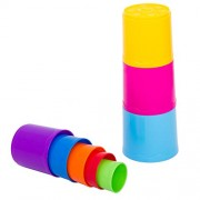 Infunbebe My 1st Stacking Cups | Teach Toddlers Colors, Counting and Size for Boys and Girls