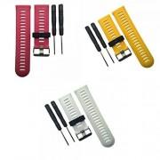 Homyl 3 Piezas de Bandas Recambios Compatible con Garmin Fenix3 /Fenix3 HR de Amarillo Rojo Blanco