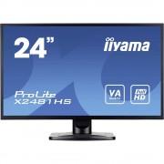 LED monitor 59.9 cm (23.6 cola) Iiyama X2481HS-B1 KEU: B 1920 x 1080 piknjica 6 ms VGA, DVI, HDMI™ VA LED