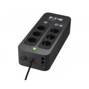 EATON SAI 3S 550 DIN - 550VA/330W - 6 tomas SCHUCKO -DIN (3 UPS + 3 sólo sobretensiones) y Tel/fax/modem/internet/Ethernet. Cabl