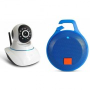 Zemini Wifi CCTV Camera and Clip Bluetooth Speaker for SAMSUNG GALAXY S6 EDGE(Wifi CCTV Camera with night vision |Clip Bluetooth Speaker)