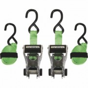SmartStraps RatchetX Aluminum Tie-Downs - 10ft.L, 1,500-Lb. Breaking Strength, 2-Pack, Green, Model 338
