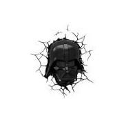 Luminária de Parede Star Wars Darth Vader Preto - 3D LIGHT FX