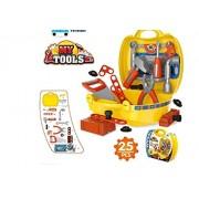 Saiyanshi Tool Set Toys for Kids, (Set of 25 Pcs) Pretend PlaySet, Little Engineer Pretend Toolbox Construction Tools, Role Play Engineer Workshop Tool Kit