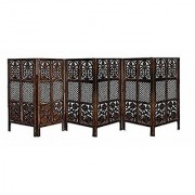Shilpi Handicrafts Wooden Partition Room Divider in Small Size Leaf Floriferious Design Decor Panel (6)