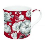 R2S.177TCRG Porcelán bögre 300ml, dobozban, Trend & Colours Red Garden Flowers