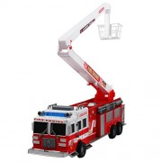 Rescue Fire Engine Firefighter Truck with Extension Ladder Friction Powered Toy