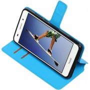 Blauw Huawei Honor Y6 II TPU wallet case booktype hoesje HM Book