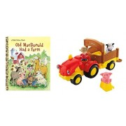 Fisher Price Little People Tow N Pull Tractor And Book Gift Set