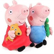 iDream 19cm Cute Peppa Pig Plush Soft Toy Gift for Kids (Set of 2)