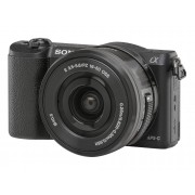 Sony Cámara Mirrorless SONY A5100+16-50MM (Negro - 24.3 MP - Sensor: APS-C - ISO: 100 a 25600)