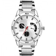 TRUE CHOICE TC 07 SILVER BEALT SUPER WATCHS FOR MEN BOYS.