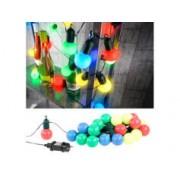 Lunartec Guirlande guinguette 4,75 m 20 ampoules LED 1W - 4 couleurs